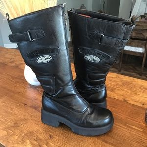 Harley Davidson Black Leather riding boots sz 7.5